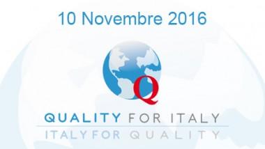 """PUBBLICAZIONE ATTI  """"Quality for Italy"""""""