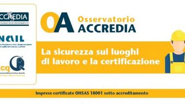 """Presentazione dell'Osservatorio Accredia """"La sicurezza sui luoghi di lavoro e la certificazione"""""""