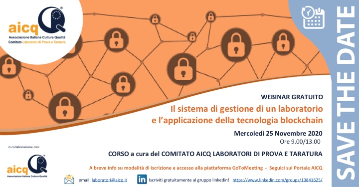 Save the Date Evento Laboratori 25112020