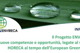Settore Ho.Re.Ca al tempo dell'European Green Deal: il Progetto ENVIRECA